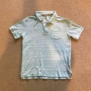 Old Navy Boys Pale Green White Striped Polo Shirt